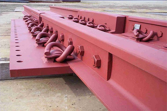 Expansion rail joint, High manganese steel frog